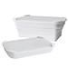 DR.SI矽膠摺疊餐盒-白色